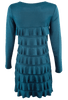 Isle Long Sleeve Cha Cha Dress - Teal - Back