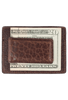 Bison Sport Clip Card Case - Brown - Back