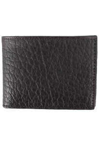 Bison Slim Fold Wallet - Black - Front
