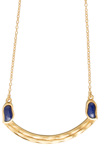 Christina Greene Lapis Curved Bar Necklace - Thumbnail
