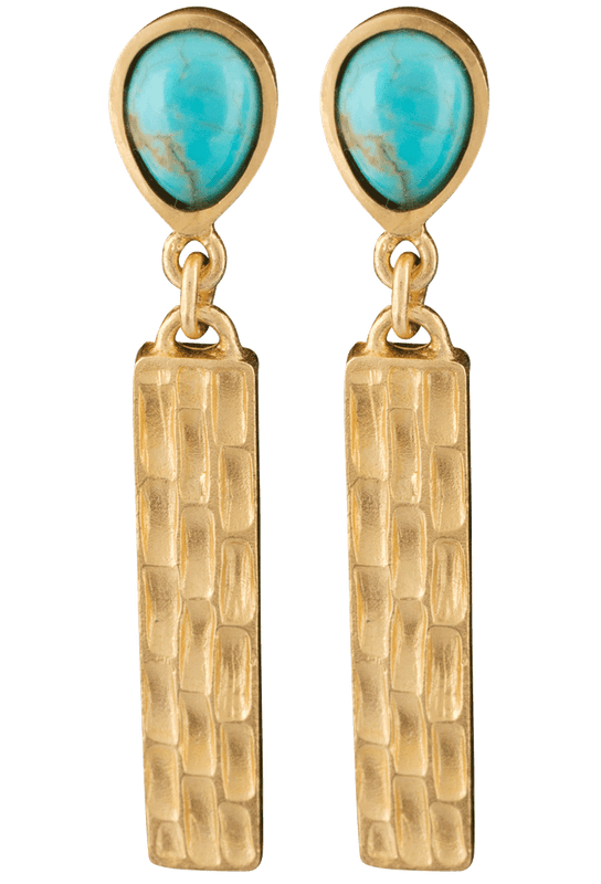 Christina Greene Turquoise Bar Earrings