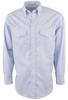 Gitman Bros. Blue and Orange Stripe Shirt - Front