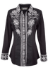 Vintage Collection Embroidered Black Shirt - Front