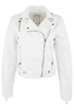 Paparazzi White Vegan Leather Moto Jacket - Front