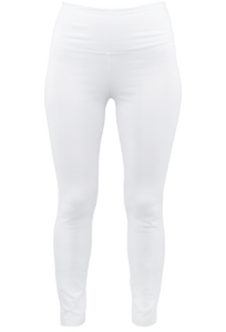Lysse White Denim Skinny Leggings - Front