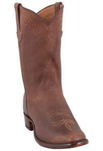 Rios of Mercedes Men's Chocolate Warthog Hybrid Roper Boots - Hero