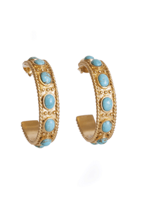 Christina Greene Navajo Hoop Earrings - Front