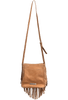 American West Seminole Fringe Crossbody - Cognac - Back with strap