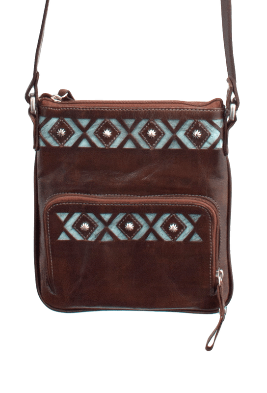 American West Moon Dancer Crossbody Bag - Chocolate - Front