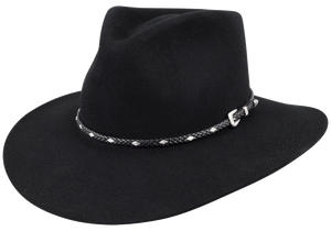 Stetson 5X Diamond Jim Felt Hat - Black - Hero