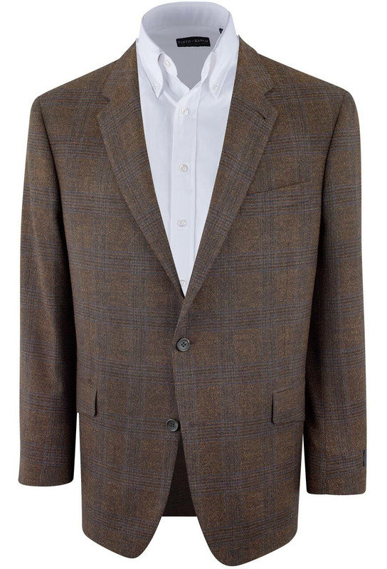 Brown Plaid Sergio Sport Coat - Front