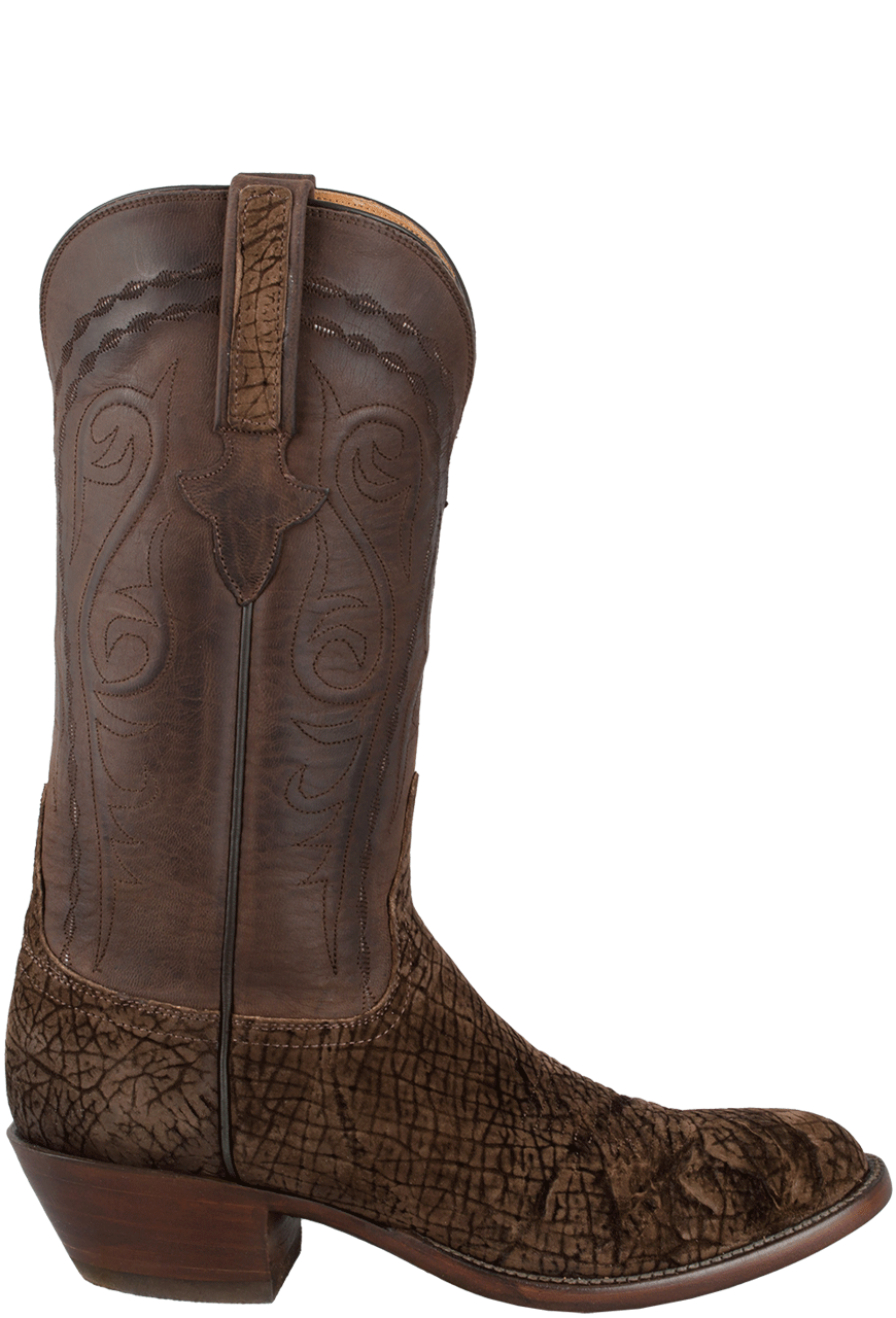 Lucchese Men S Chocolate Hippo Boots Pinto Ranch