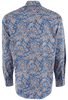 Stetson Blue Brocade Paisley Snap Shirt - Back