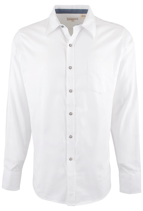 Stetson Original Rugged 10P Snap Shirt - White - Front