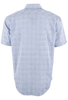 James Campbell Short Sleeve Blue Glencoe Check Shirt - Back