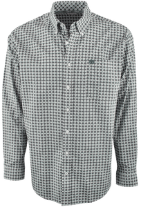 Cinch - Green/Purple Natural Print Shirt - Cream - Front