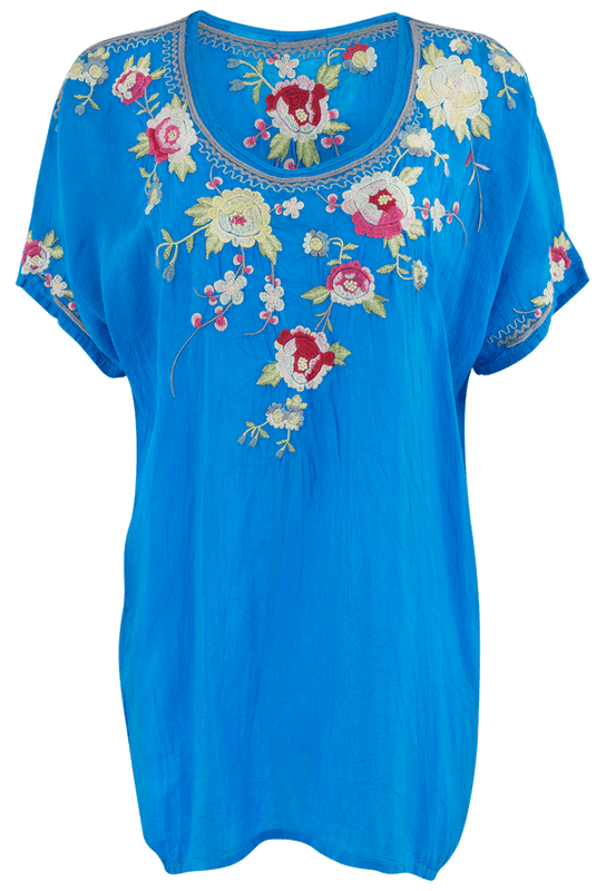 Johnny Was Blooming Bouquet Blouse - Front