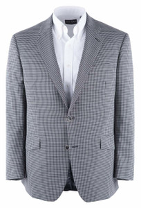 Black and White Check Western Sport Coat - Front