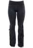 Pat Dahnke Distressed Flared Knit Pants - Black - Front