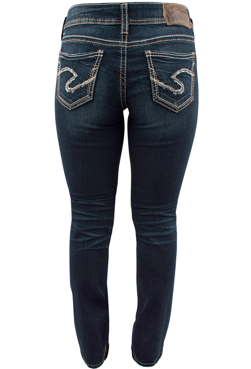 Silver Jeans Suki Mid-Rise Baby Bootcut Jeans - Pinto Ranch