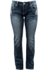 Grace in L.A. Junior Feather Pocket Bootcut Jeans - Front