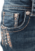 Grace in L.A. Junior Feather Pocket Bootcut Jeans - Front Pocket