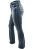 Grace in L.A. Easy Fit Moroccan Pocket Bootcut Jeans - Side