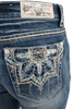 Grace in L.A. Easy Fit Moroccan Pocket Bootcut Jeans - Back Pocket