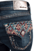 Grace in L.A. Easy Fit Diamond Flap Pocket Bootcut Jeans - Back Pocket