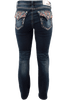Grace in L.A. Easy Fit Diamond Flap Pocket Bootcut Jeans - Back