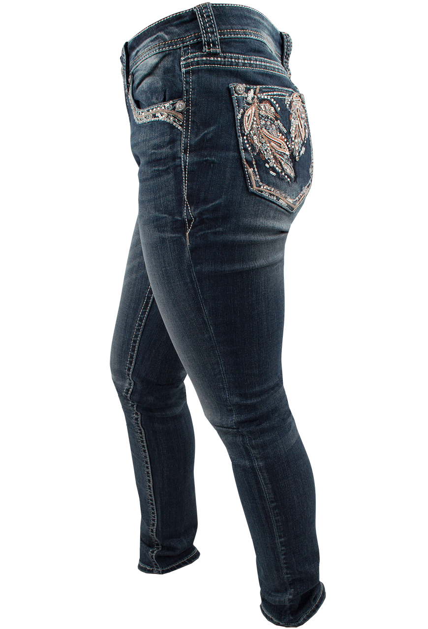 Skinny jeans with pockets on the side