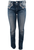 Grace in L.A. Easy Fit Thunderbird Bootcut Jeans - Front