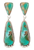 Turquoise Moon Pilot Mountain Turquoise Necklace and Earring Set - Earrings