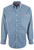 Cinch Royal Blue Pyramid Print Plain Weave Shirt - Front