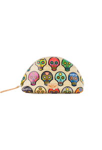 Consuela Legacy Medium Sugar Skull Cosmetic Case