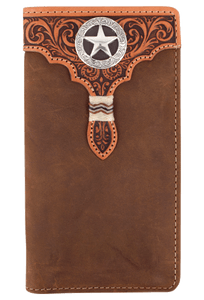 Lone Star Checkbook Wallet - Brown - Front