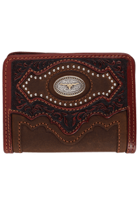 Cattle Driven Bifold Wallet - Aged Bark - Front
