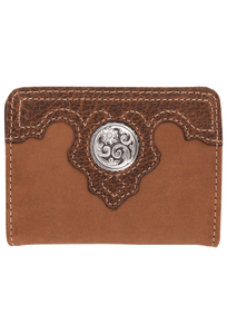 Gaucho Bifold Wallet - Tan and Brown - Front