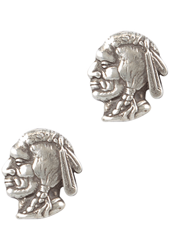 Pinto Ranch Chief Head Cufflinks - Front