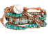WTW Designs Blue Turquoise Nugget Wrap Bracelet - Back