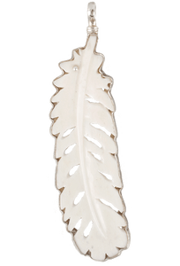 Coreen Cordova Large Ivory Feather Charm