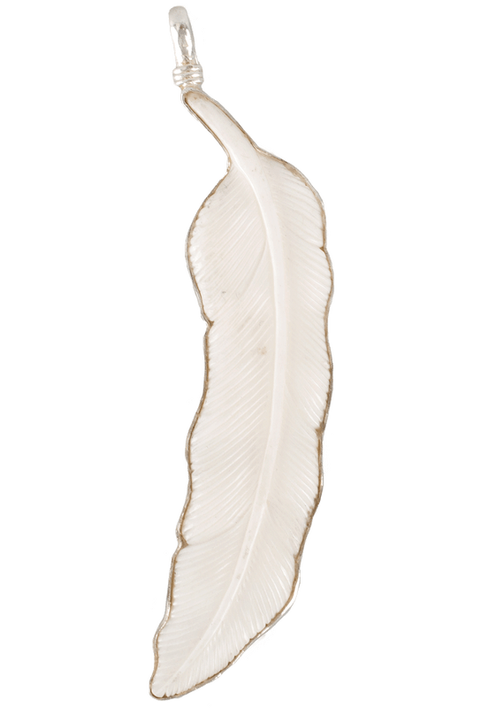 Coreen Cordova Medium Ivory Feather Charm
