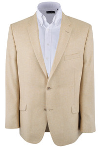 Tan Silk Herringbone Sport Coat - Front