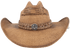 Bullhide Corral Dust Straw Hat - Pecan - Front