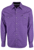 Garth Brooks Sevens by Cinch Purple Printed Stripe Snap Shirt - Front