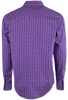 Garth Brooks Sevens by Cinch Purple Printed Stripe Snap Shirt - Back
