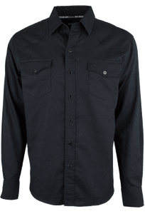 Garth Brooks Sevens by Cinch Black Paisley Jacquard Snap Shirt - Front
