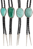 Pinto Ranch Green Turquoise Bolo Tie - Variations