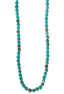 Ticklebutton Jewels Faceted Turquoise Beaded Necklace - Detail