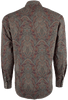 Stetson Wine Imperial Paisley Snap Shirt - Back